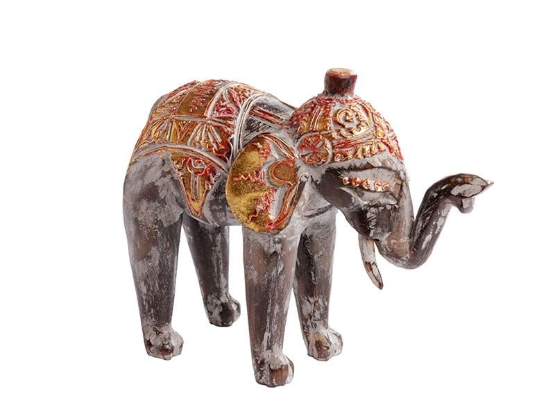Elefante Indiano Gold Red 25cm