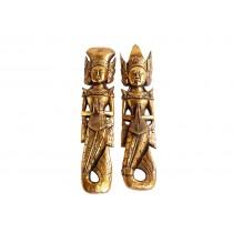 Casal Príncipes Gold 60cm