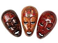 Máscara Lombok em Madeira
