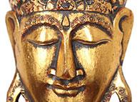 Máscara Buda em Madeira