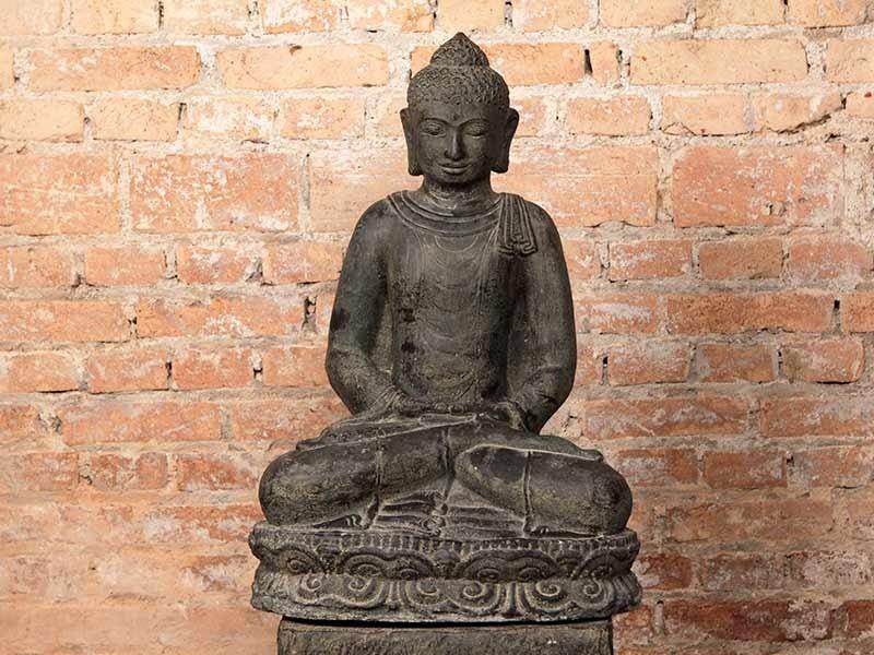 Escultura Buda Sentado Pedra
