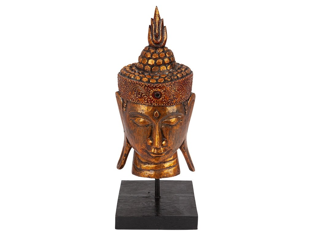 Cabeça de Buda no Pedestal