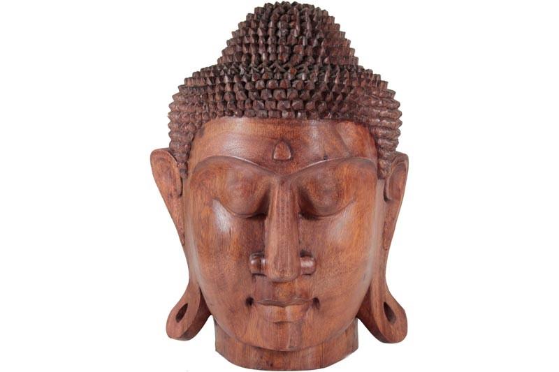 Escultura de Cabeça de Buda