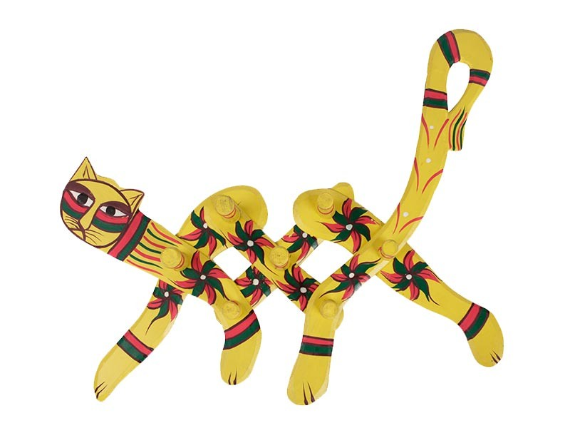 Cabideiro de Gato Amarelo