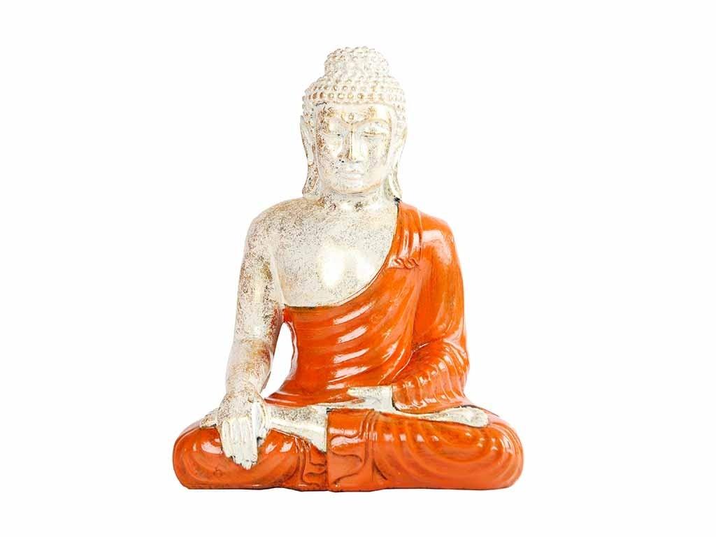 Buda Decorativo Laranja