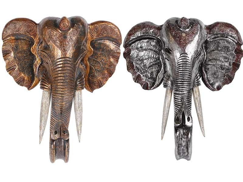 Máscaras de Elefante feitas em Madeira