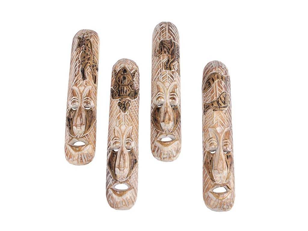 Máscaras Tribais de Madeira