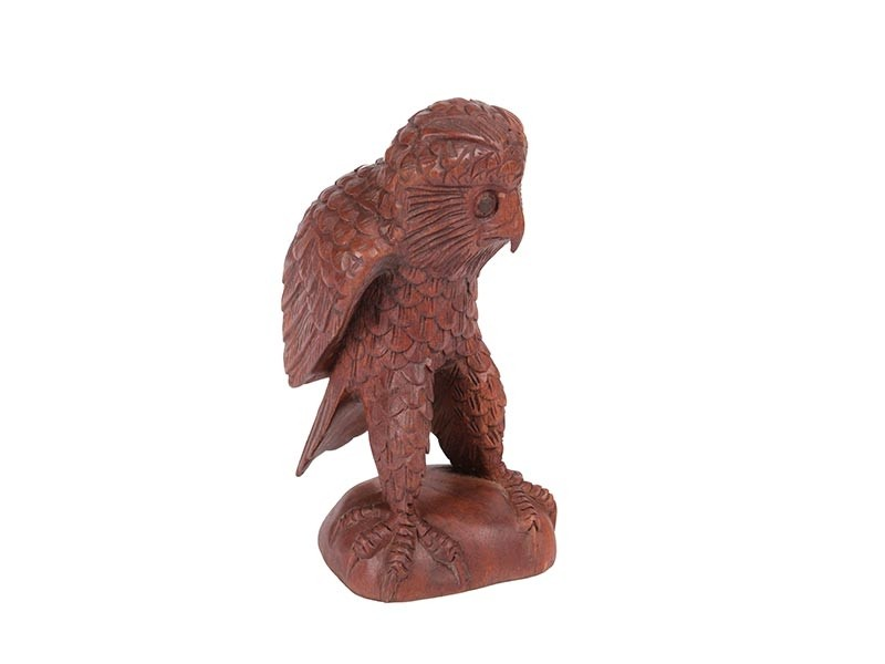Escultura Coruja em Madeira