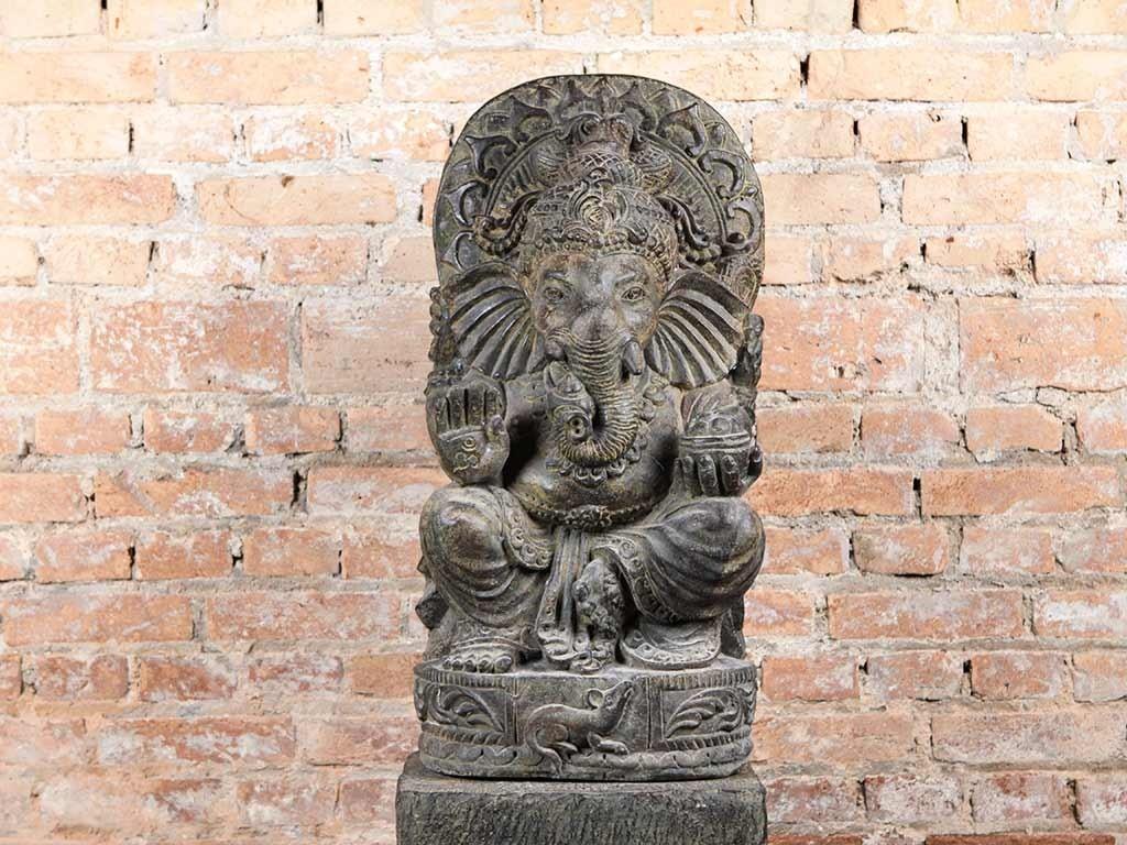 Ganesha em Pedra Feito a Mão