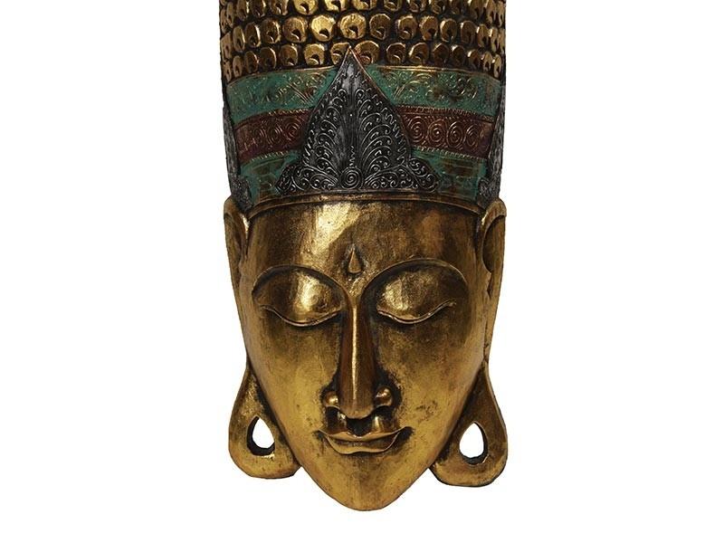 Rosto do Buda Entalhado á Mão