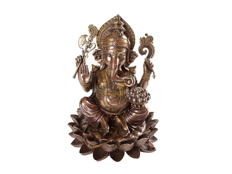 Escultura de Ganesh Gold