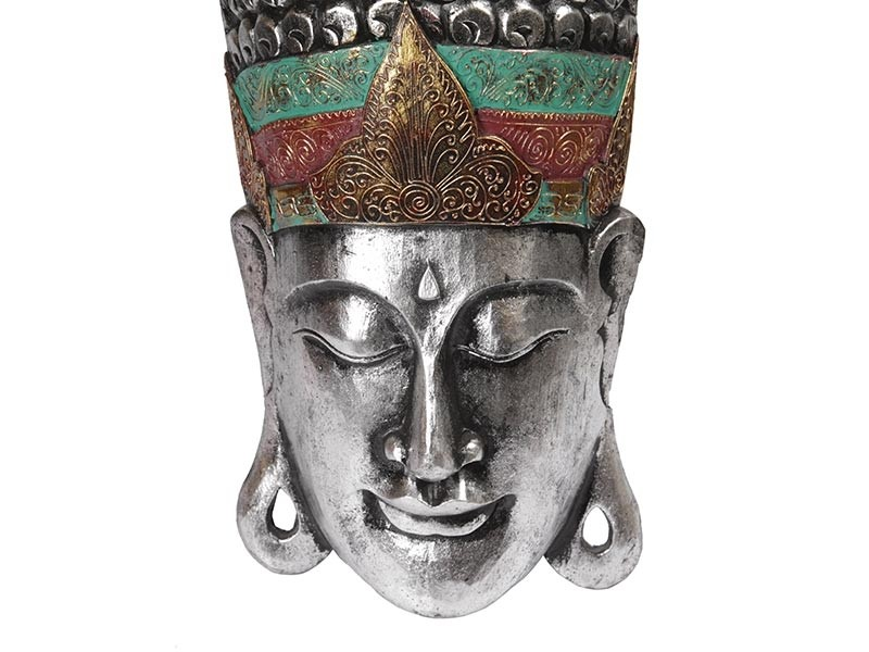 Máscara Buda Madeira