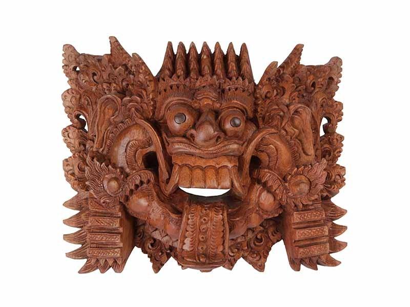 Máscara de Rangda em Madeira