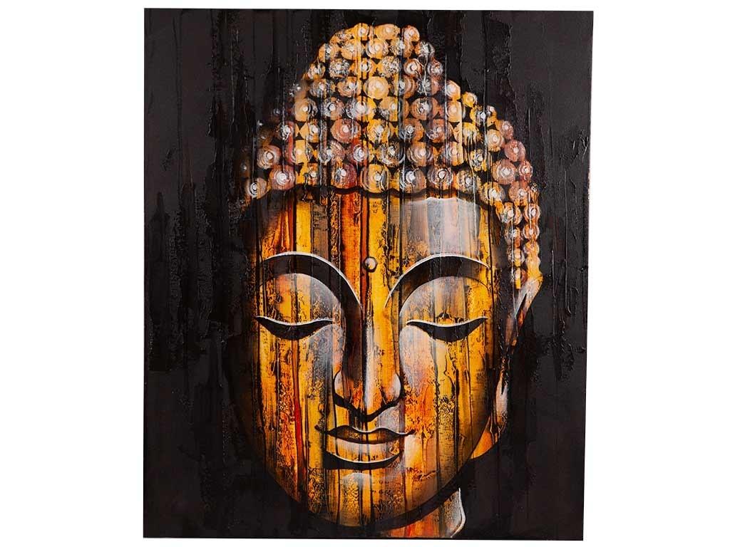 Tela de Buda Pintada á Mão
