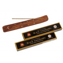 Conjunto Incensário + Incensos BLACK NAG CHAMPA