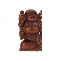 Escultura de Buda em Madeira Suar