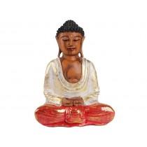 Escultura de Buda com Manto Colorido