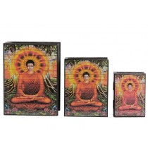 Caixa em Mosaico Buda Iluminado
