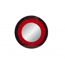Espelho Redondo Mosaico Vermelho