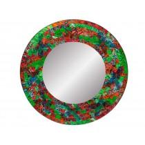 Espelho Redondo em Mosaico Colorido