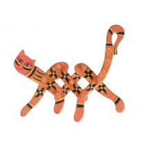 Cabideiro Modelo Gato Laranja