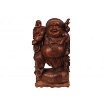 Buda Hotei Entalhado á Mão