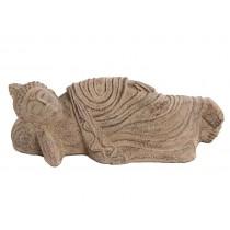 Escultura de Buda em Pedra Deitado