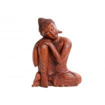 Buda Mão no Joelho Suar Wood
