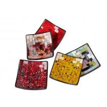 Pratos Quadrados em Mosaico