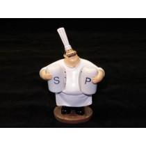 Cozinheiro Porta Sal e Pimenta 11 X 8 X 16 cm