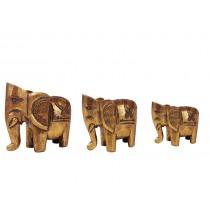 Elefantes Dourados Feitos a Mão