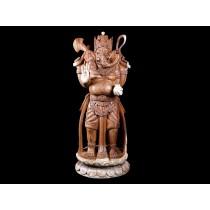 Escultura de Ganesha em Madeira Suar