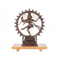 Shiva Nataraja com Detalhes em Dourado