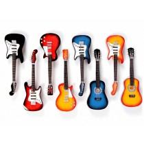 Guitarras Decorativas em Madeira