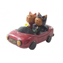 Carro com Gatos Antik 10 cm