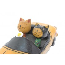 Carro com Gatos Antik 18 cm