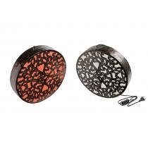Arandela Mandala Bulat Metal 40cm