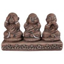 Trio de Budas da Sabedoria Brown