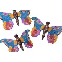 Trio de Borboletas multicolor