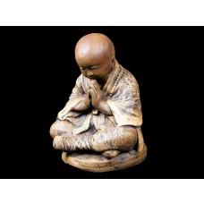 Escultura de Buda Gratidão em Pedra