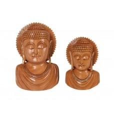 Bustos de Buda em Madeira