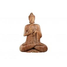 Escultura de Buda em Madeira Tamanho Real