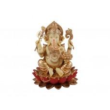 Ganesha Sentado Sobre a Flor de Lótus