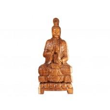 Estátua Kuan Yin em Madeira
