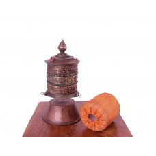 Roda de Oração Tibetana de Mesa