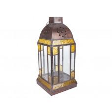 Lanterna em Latão com Vidros