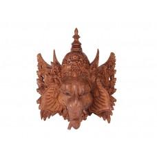 Ganesh Entalhado em Madeira