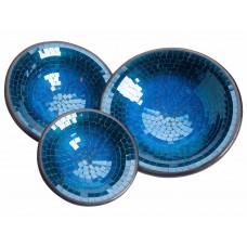 Pratos em Cerâmica Azul
