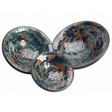 Pratos Coloridos em Mosaico