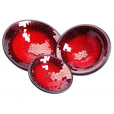 Pratos Decorativos em Mosaico Vermelho